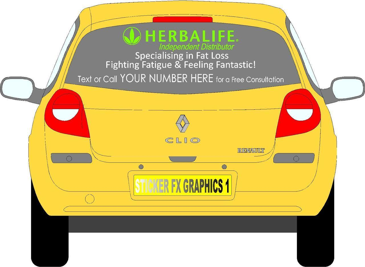 Car stickers advertising - Herbalife Independent Distributor Car Stickers Advertising Signs Decals