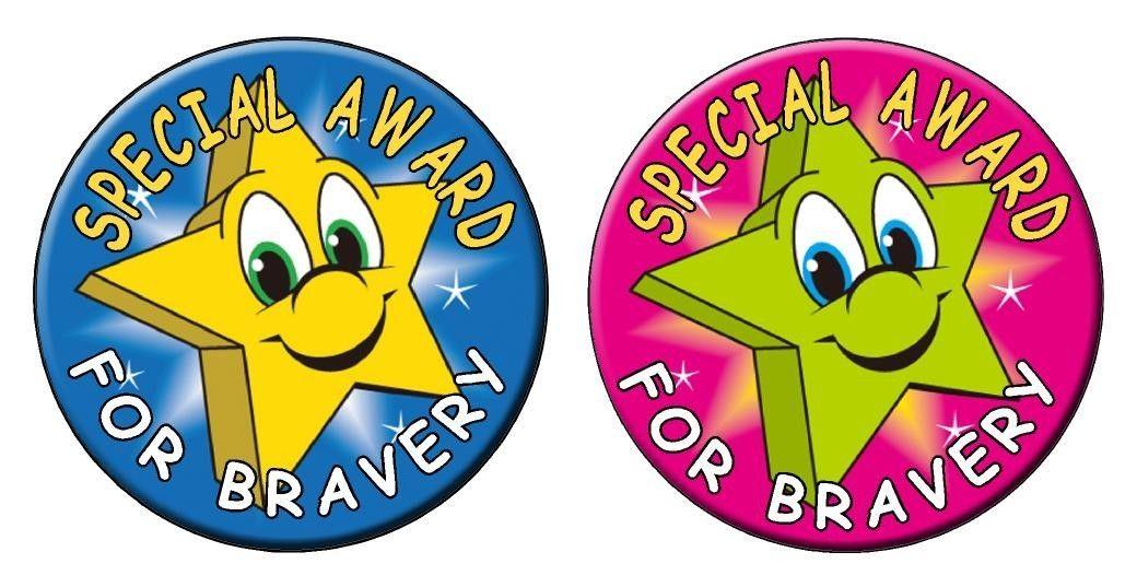 Bravery Award Kids Stickers Stars Labels Decals Dentist Doctors School star eBay - Circle Wall Stickers